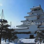 冬の若松城(pho-2013wi-0045
